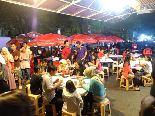 tempat wisata kuliner di bandung kampung sawah