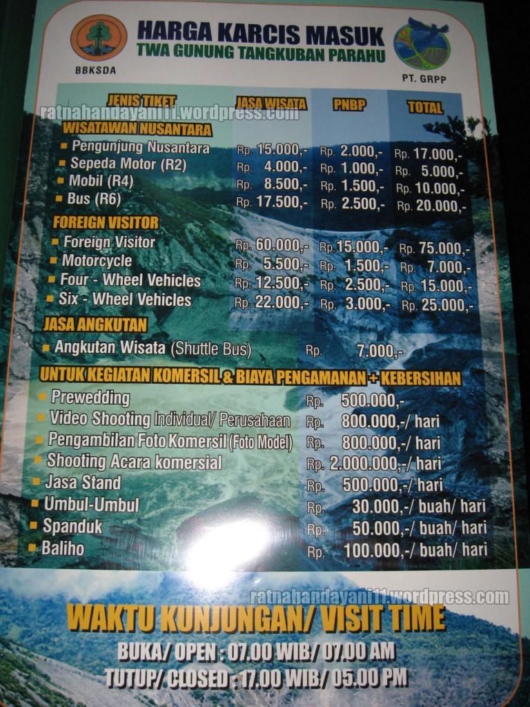 Tiket Masuk Tangkuban Perahu 2015 Tempat Wisata Di Bandung 768x1024 Jpg