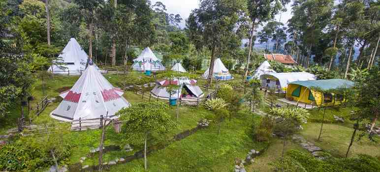 Camping Ground Ciwidey Valley Resort - Hot Spring Water Park Bandung