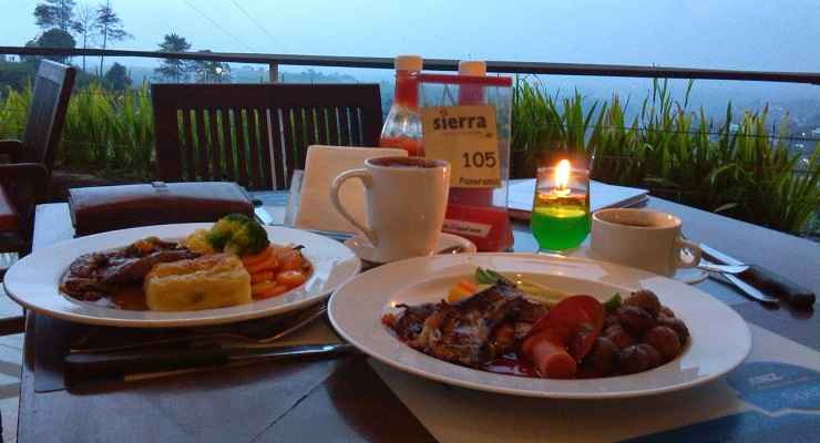 Menu Cafe Sierra Bandung