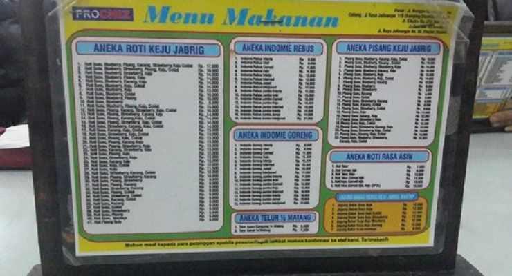 Daftar Menu Dan Harga Cafe Madtari Bandung