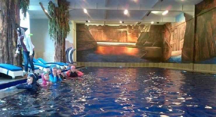 Hijab Swimming Pool Floating Market Lembang Bandung