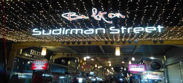 Sudirman Street Day And Night Market Bandung