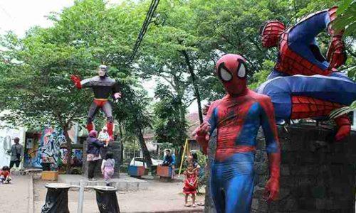 Taman Super Hero di Jalan Anggrek Kota Bandung