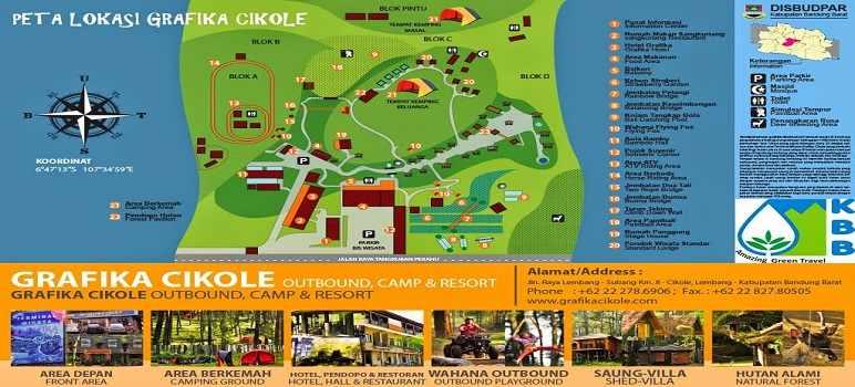 Peta Lokasi Terminal Wisata Grafika Cikole Lembang Bandung