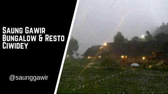 Saung Gawir Bungalow & Resto Ciwidey Bandung
