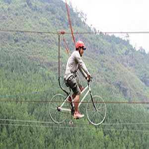 Wahana Zip Bike The Lodge Maribaya