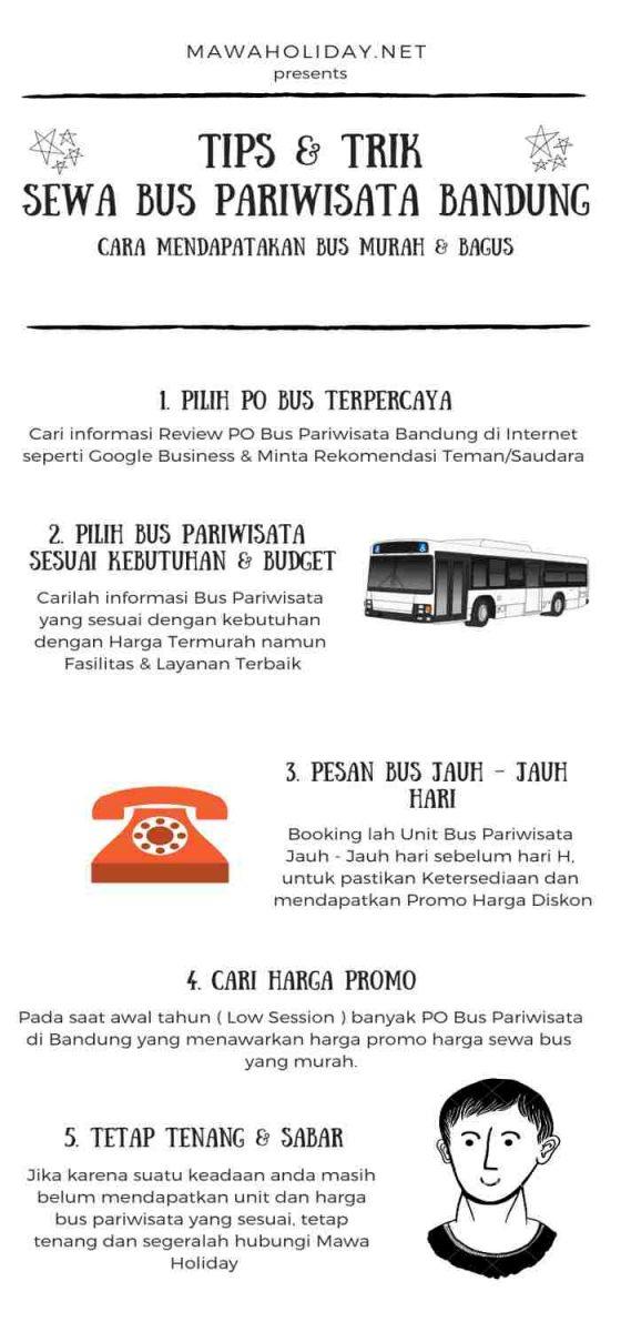 Infographic Harga Sewa Bus Pariwisata Bandung