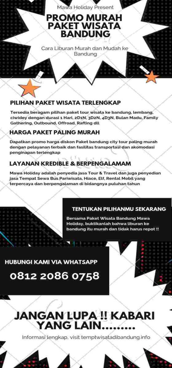 Paket Wisata Bandung Infographic