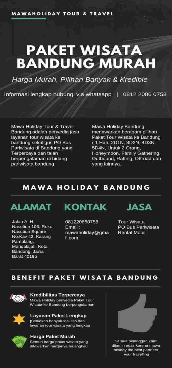 Paket Wisata Bandung Murah Infographic