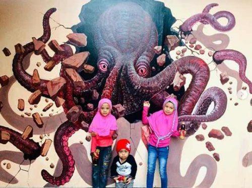 Gambar Lukisan 3 Dimensi Mini Gurat Jelekong Bandung