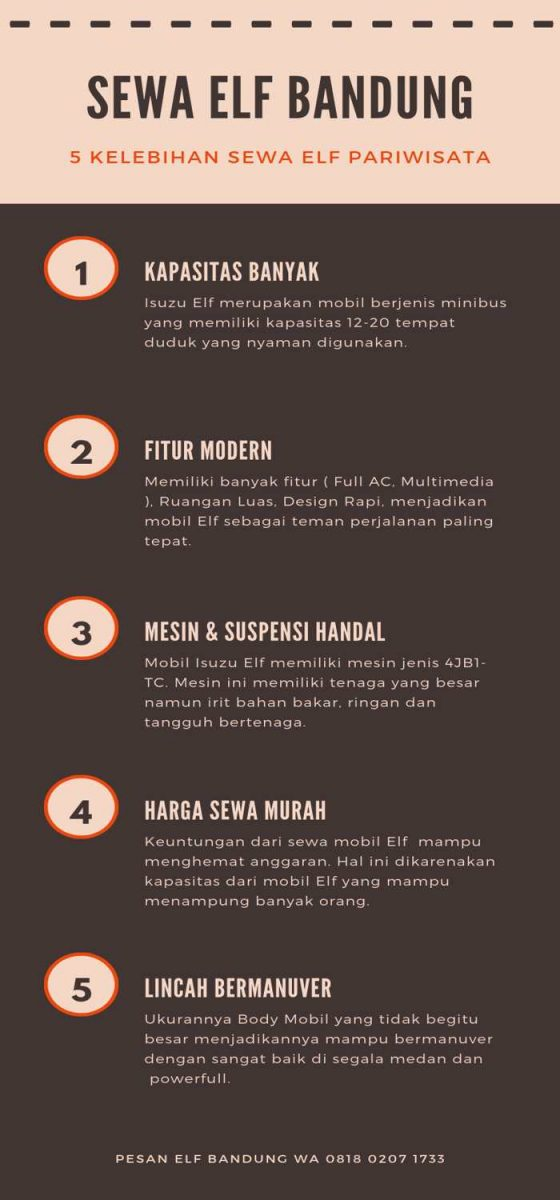 Infograpic Sewa Elf Bandung Murah