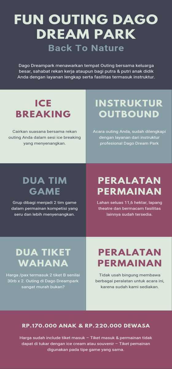 Infographic Paket Outbound Dago Dream Park Bandung