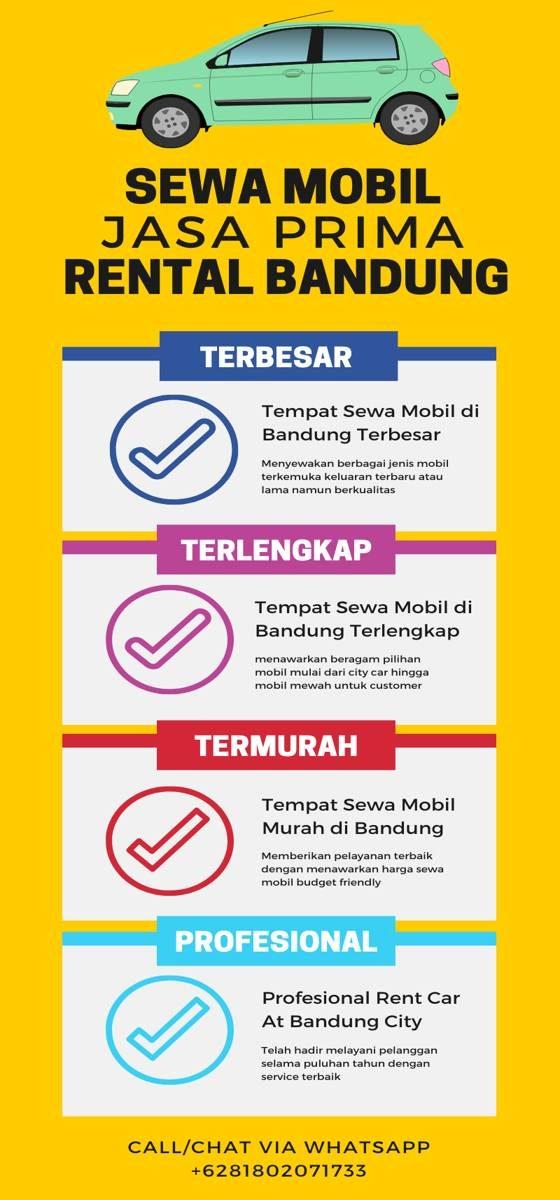 Rental Mobil Bandung Murah Infographic