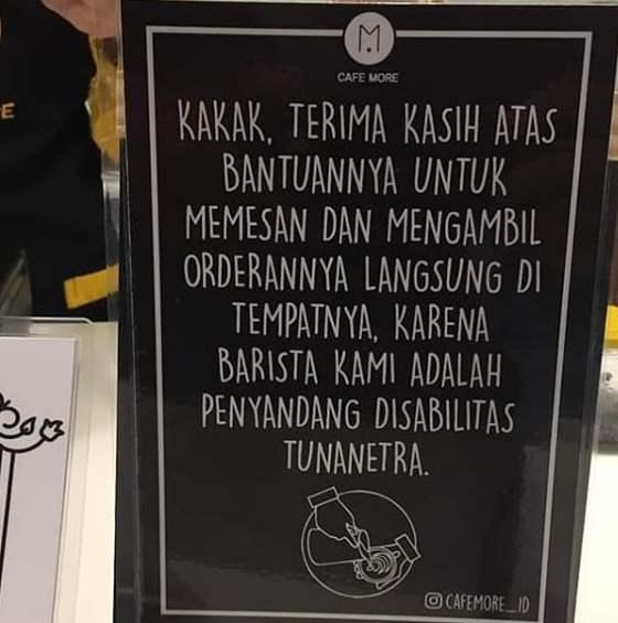 Keunikan Cafe More Wyata Guna Bandung