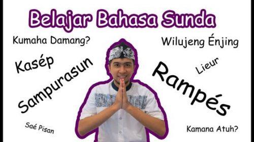 Belajar Bahasa Sunda Dan Artinya