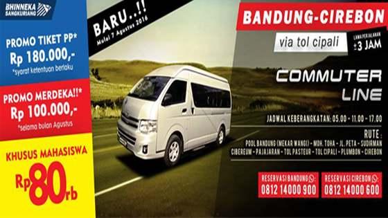 Tarif Harga Travel Bandung Cirebon Via Tol Cipali Sumedang Antar Jemput