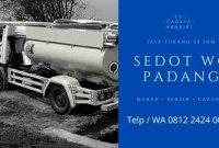 Harga Sedot WC Kota Padang Murah Biaya Jasa Hub Nomor Telp