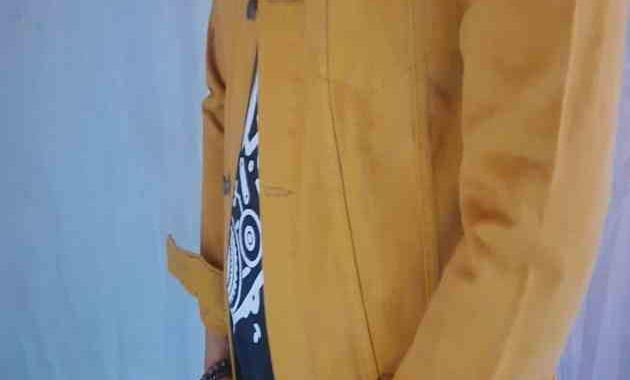 Contoh Gambar Jaket Levis Bandung Terbaru Warna Coklat