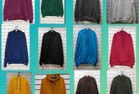 Contoh Gambar Jaket Sweater Polosan Warna Merah Hitan Biru Kuning Hijau Coklat