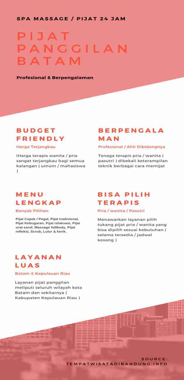 Jasa Spa Massage _ Pijat Panggilan Batam Infographic