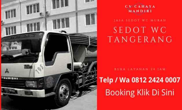 Sedot WC Tangerang Harga Murah 24 Jam CV CAHAYA MANDIRI