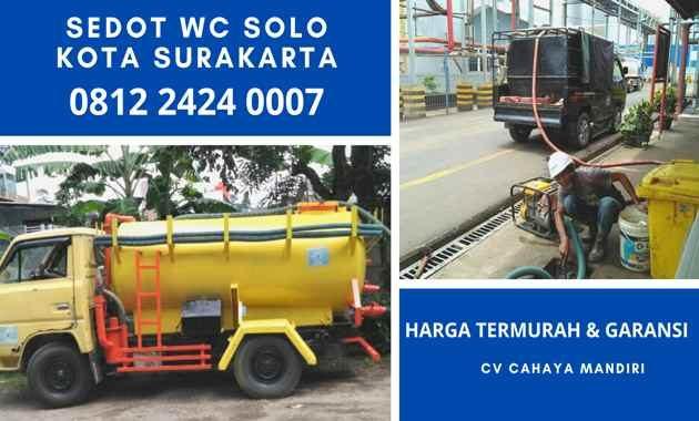 Jasa Tukang Sedot WC Solo Kota Surakarta Jawa Tengah Harga Murah 24 Jam