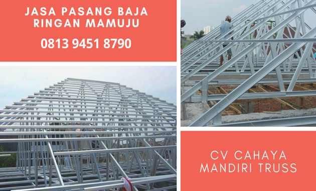 Jasa Tukang Pemasangan Atap Rangka Taso Baja Ringan di Kota Mamuju Distributor Grosir