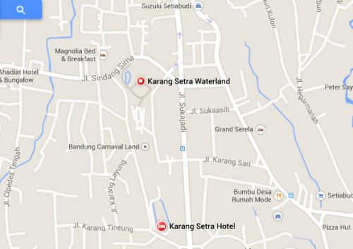 Lokasi Kolam Renang Karang Setra Bandung